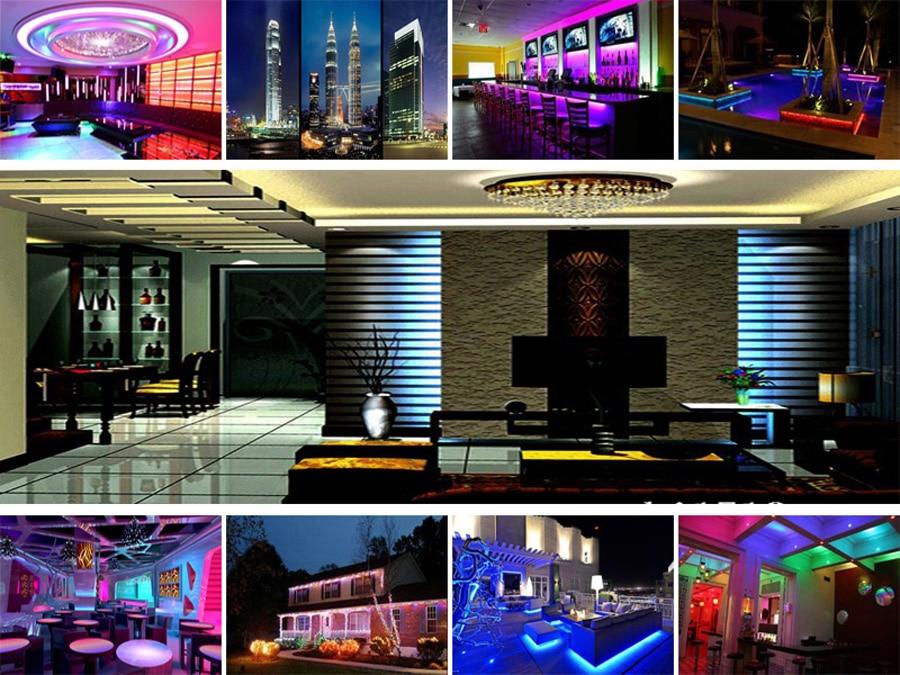 5 meter 300Leds Non-waterproof RGB Led Strip Light 2835 DC12V 60LedsM Flexible Lighting String Ribbon Tape Lamp Home Decoration (10)