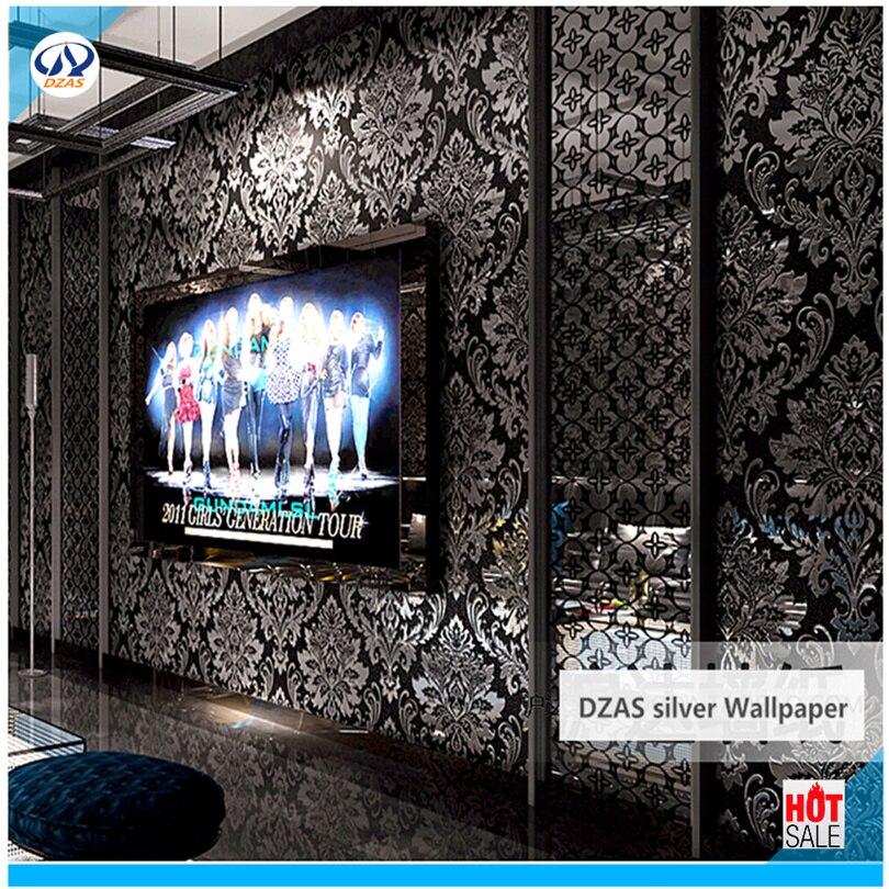 silver wallpaper black color