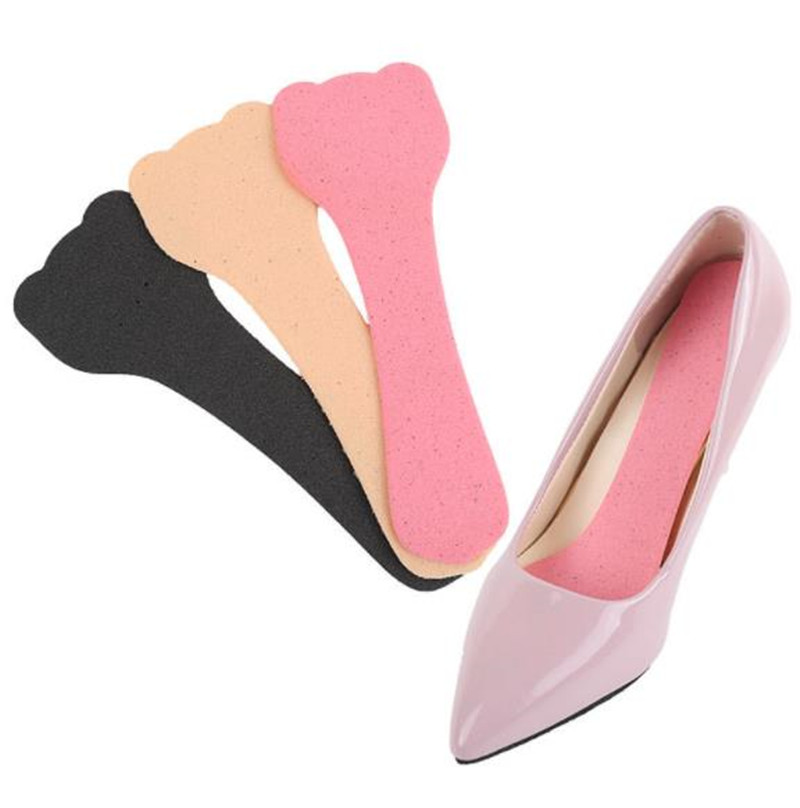 1 Pair T-Shape Soft Women Shoes Pads High Heel Grips Liner Arch Support Orthotic Shoes Insoles Foot Heel Protector Cushion