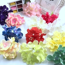 цены 3 unids plum blossom flor de seda rosa corona ropa sombrero de ramas secas decorativas de la boda ramo de flores