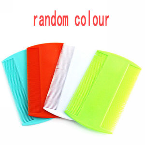 Image 5 - 2pcs Double Sided Head Lice Comb Protable Fine Tooth Head Lice Flea Nit Removal Hair Combs Hair Styling Tools Random Color
