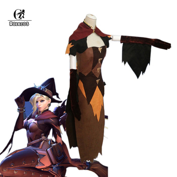 ROLECOS Over Game Watch Mercy Angela Ziegler Cosplay Costumes Witch Mercy Angela Ziegler Cosplay Costumes Holloween Full Set фото