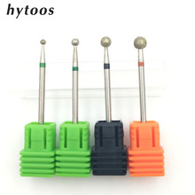 HYTOOS 3Pcs/lot Ball Diamond Nail Drill Bit Cuticle Clean Manicure Cutters Rotary Burr Drill Accessories Nail Mills Tool