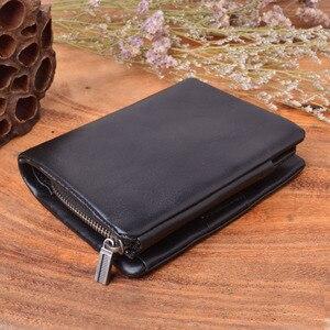 Image 2 - AETOO الأصلي اليدوية محفظة الرجال الرجعية محفظة صغيرة الطبقة الأولى من الجلود سستة محفظة الرجال محافظ خمر أسود
