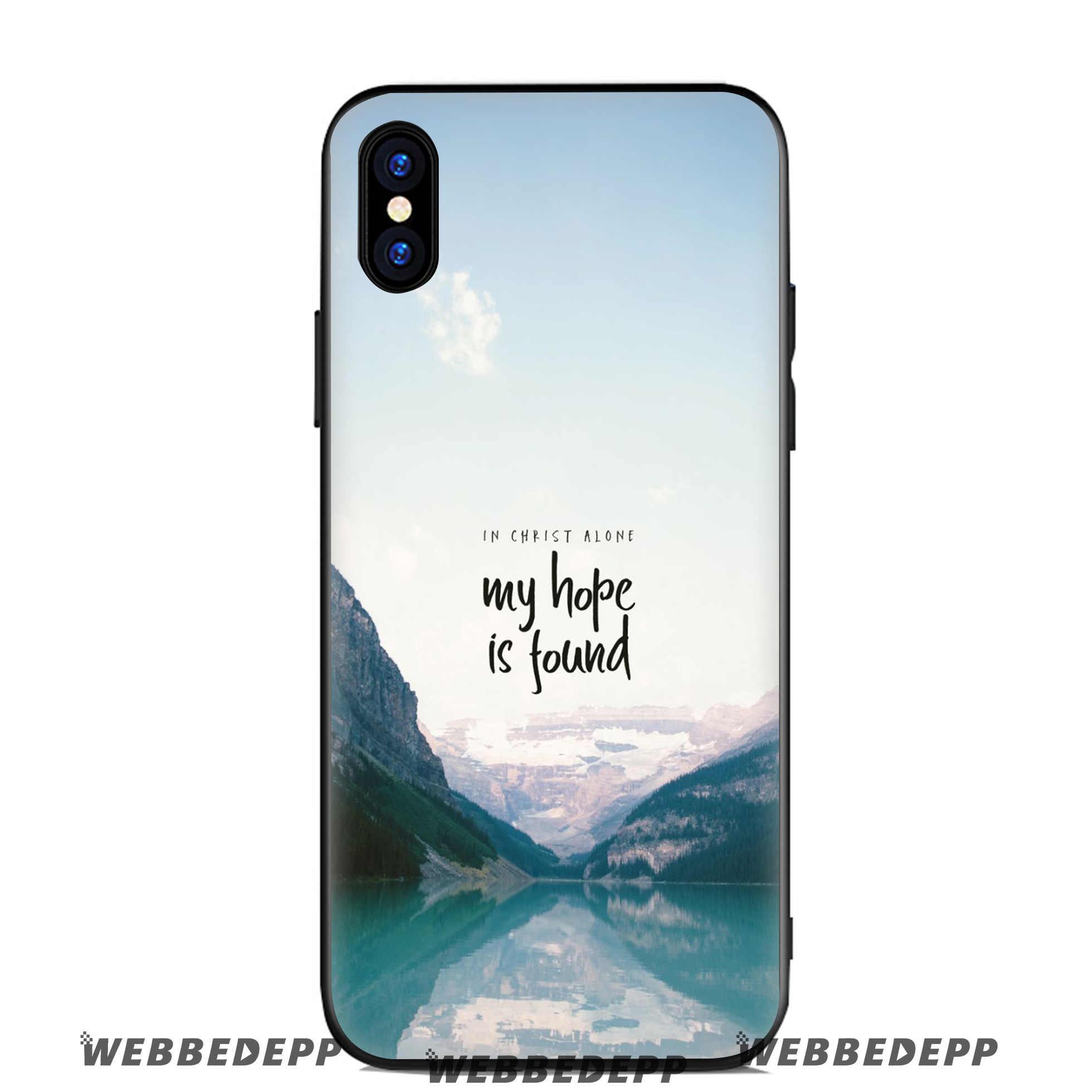 Webbedepp Ayat Alkitab Yesus Kasus Silicone Lembut untuk Apple iPhone 11 Pro XR X Max X atau 10 8 7 6 6S PLUS 5 5S SE TPU
