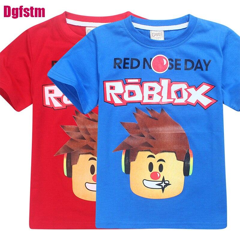 Día de los niños camiseta niñas camisetas dibujos animados cinco noches en freddy camiseta niños ropa ROBLOX rojo nariz día