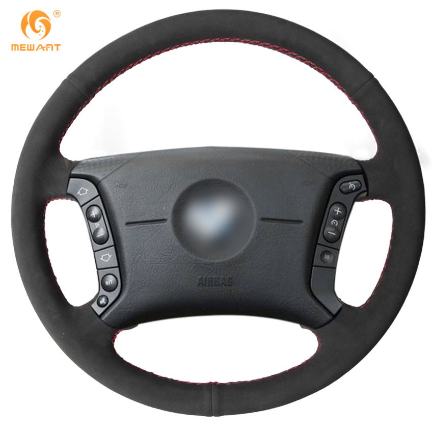 MEWANT Black Suede Car Steering Wheel Cover for BMW E46 318i 325i E39 E53 X5 защитные аксессуары car pakistan bmw alpina