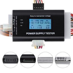 Тестер компьютерного блока питания с цифровым ЖК-дисплеем, тестер с подсветкой, 4 контакта, 8 контактов, проверка мощности ATX
