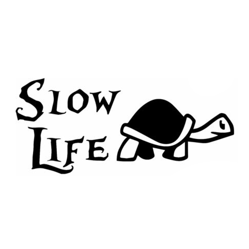 12cm*5.3cm Slow Life Turtle Animal Car Sticker Decor Car Styling S4-0632 moving as fast as i can sticker