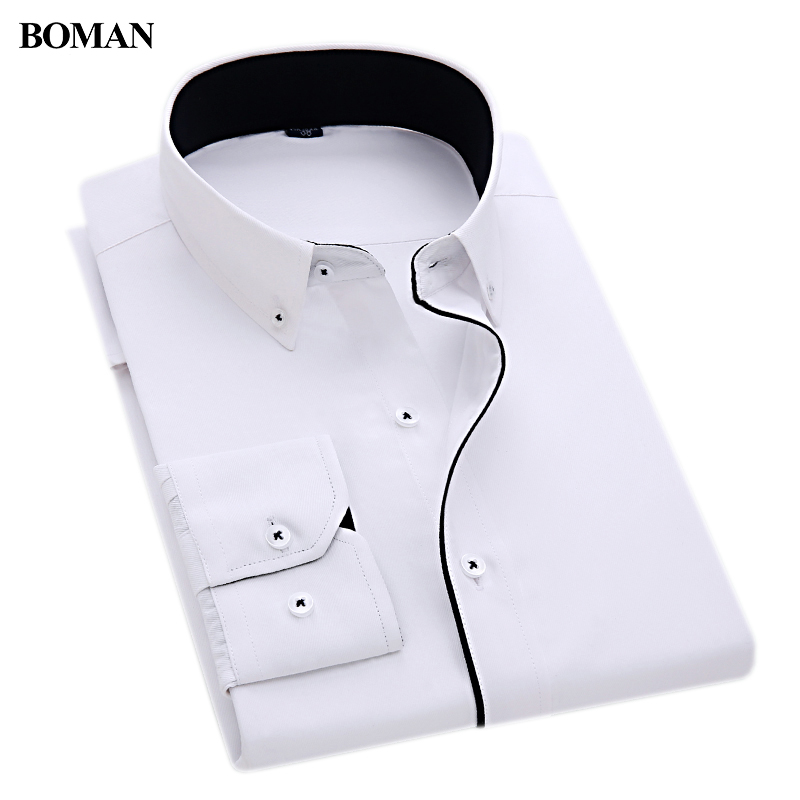 Boman new arrival special design button collar black line for Tuxedo shirt black buttons