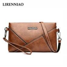 LIRENNIAO лето маленькая сумка женская 2018 Новая натуральная кожа клатч сумка простая дикая женская монета кошелек