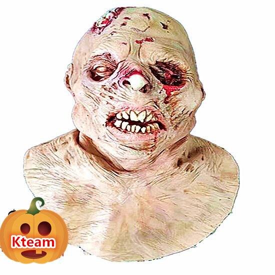 Masque adulte Halloween de qualité supérieure masque Zombie Latex effrayant sanglant extrêmement dégueulasse masque complet Costume partie Cosplay Prop