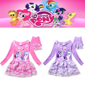 My little Children pony  Kids Girls Dress New My little Girls pony Dresses2015 summer girls dresses 3-8Years Freeshipping