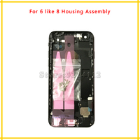 New Back Middle Frame Chassis Full Housing Assembly Battery Cover With Flex Cable For Iphone 6