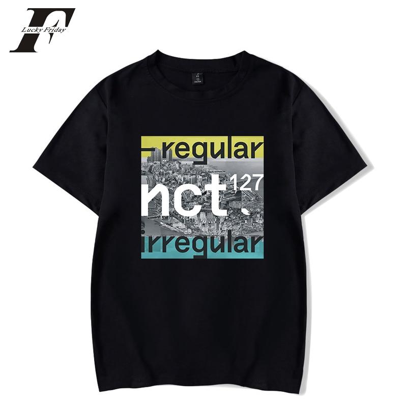 Regular NCT 127 Fashion T-shirts Print Sport Hip Hop Couple Men Women T Shirts Casual Unisex Tops Tee Shirt Short Sleeve T-shirt