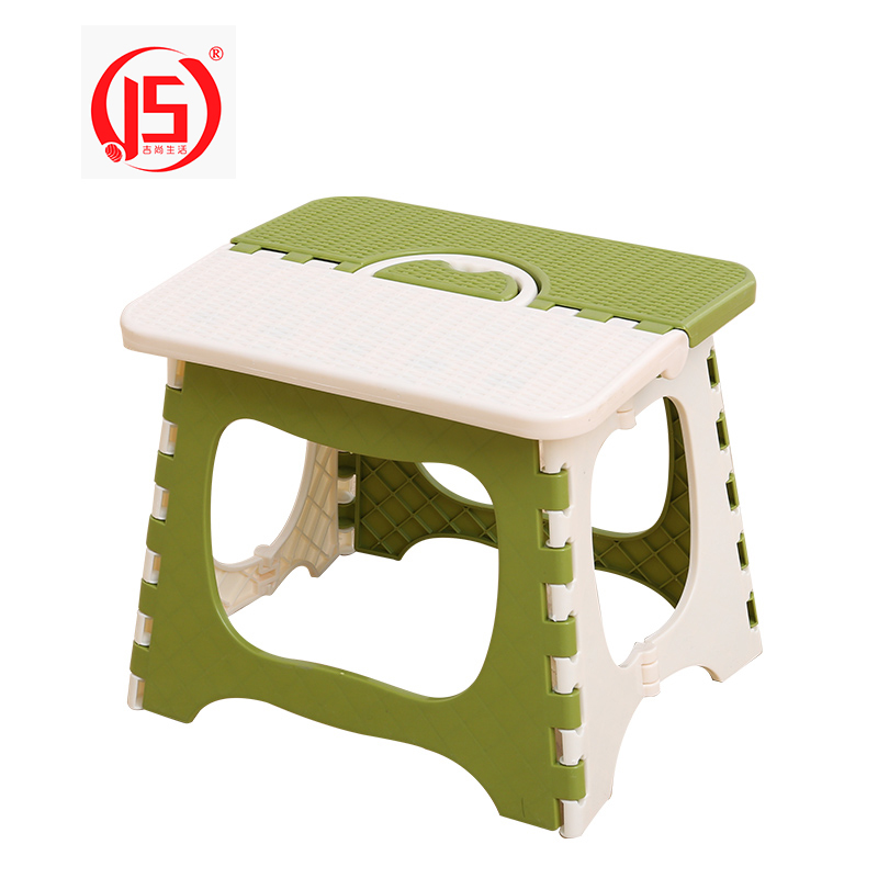 JS Kid Cute Portable Plastic Folding Stool Home Cartoon Ottomans Outdoors Fishing Study Dinner Children Stool Folden Chairs cartoon animal patern children stool kid seater portable fishing stool living room furniture children ottoman bathroom stool