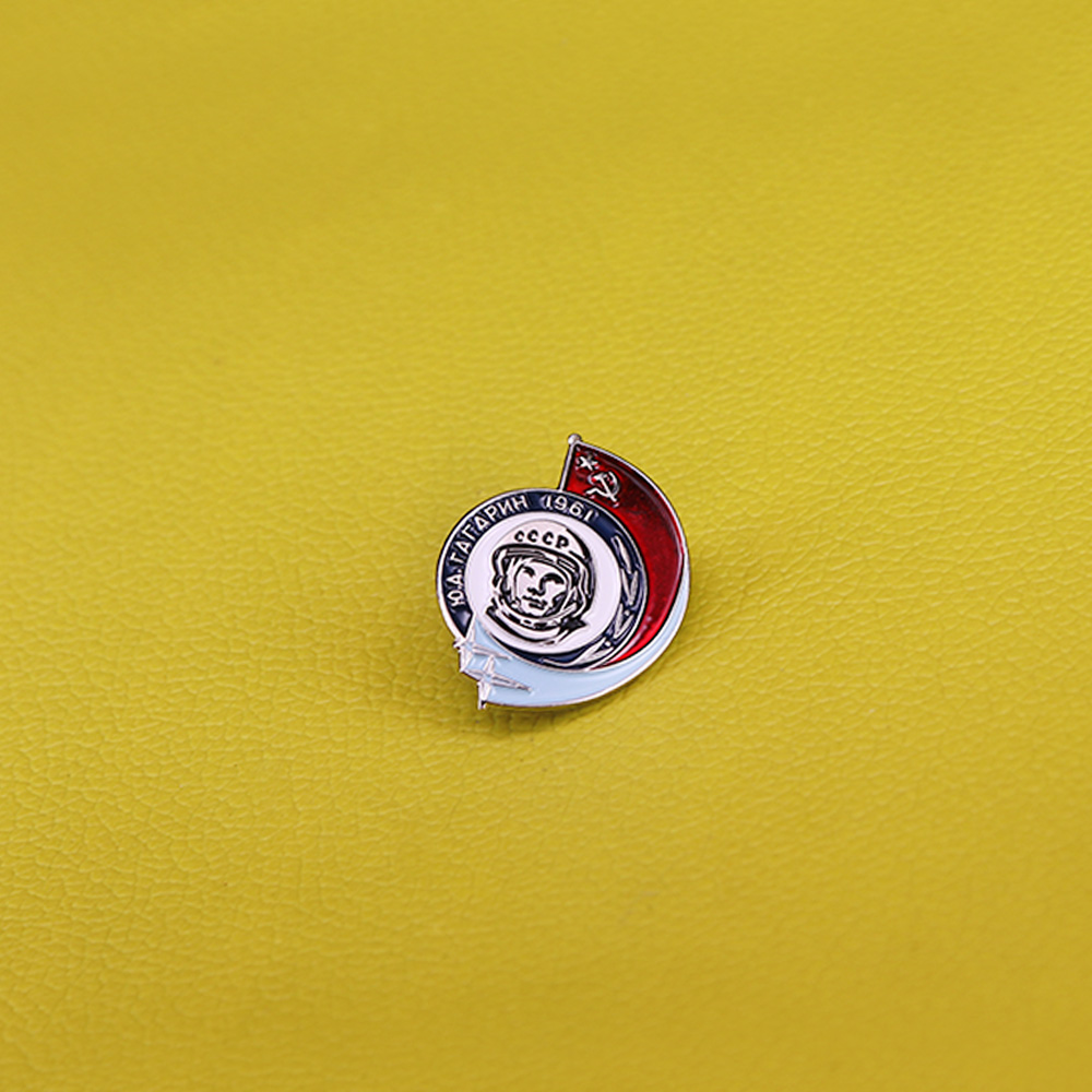 Vintage  SOVIET PIN BADGE  Yuriy Gagarin  USSR //CCCP//#9
