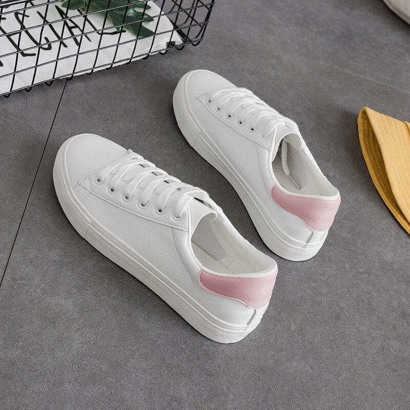 Primavera Chic Sneakers para As Mulheres Todos Os Tênis Branco Sapatos Casuais Sapatos de Laço Cor de Rosa Azul Durante Todo o Jogo Lona Mujer Chaussure Femme Zapatillas