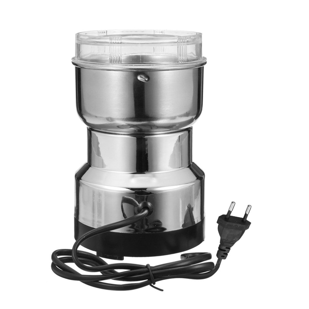 Premium 220V Electric Stainless SteelHousehold Grinding Milling Machine Coffee Bean Grinder Home Tool For Seed Nut Drop Shipping