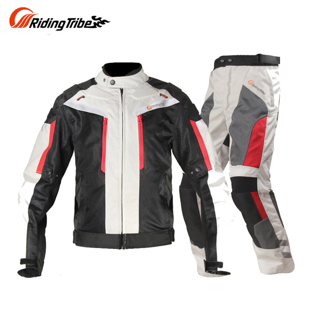 Riding Tribe Motorcycle Jacket Motocross Suits Jacket&Pants Moto Jacket Protective Gear Armor Motorcycle Racing Jackets herobiker armor removable neck protection guards riding skating motorcycle racing protective gear full body armor protectors
