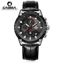 Marca de lujo del deporte relojes de los hombres del encanto de la moda para hombre de cuarzo reloj de pulsera impermeable 100 m relogio masculino # CASIMA 8203
