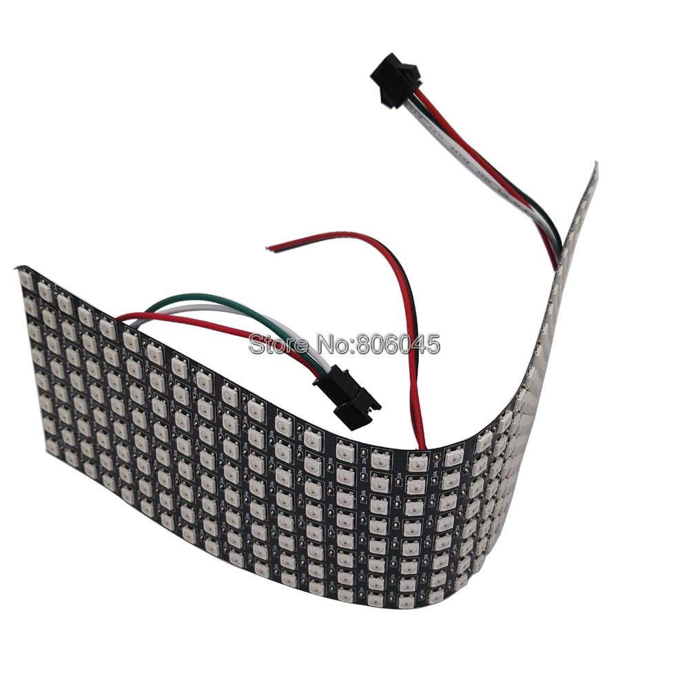цена на 8x32 Pixel 256 Pixels WS2812B Digital Flexible LED Panel Individually Addressable Full Dream Color DC5V