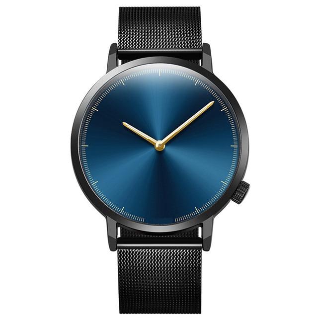 6b54d6cf5e2f 2018 relojes de manera de los hombres relojes de oro rosa de cuarzo banda  de acero