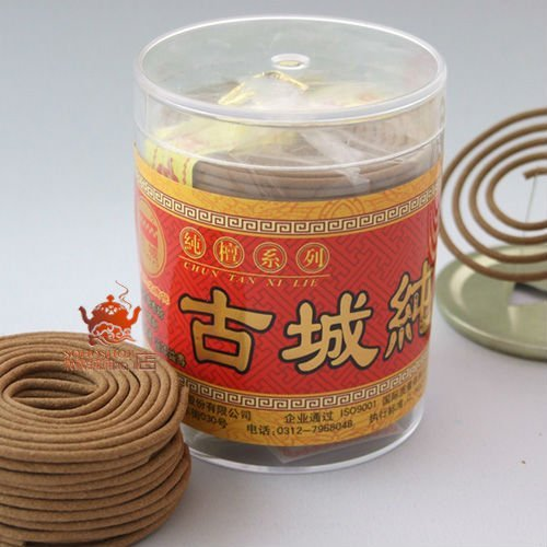 Sandalwood incense coils,5.5cm 60 coils 2h.Natural incense.Famous gucheng incense.Natural woody aroma,best quality assured.