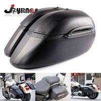 Universal Black Motorcycle Saddle Bag Mount Bracket Trunk Luggage