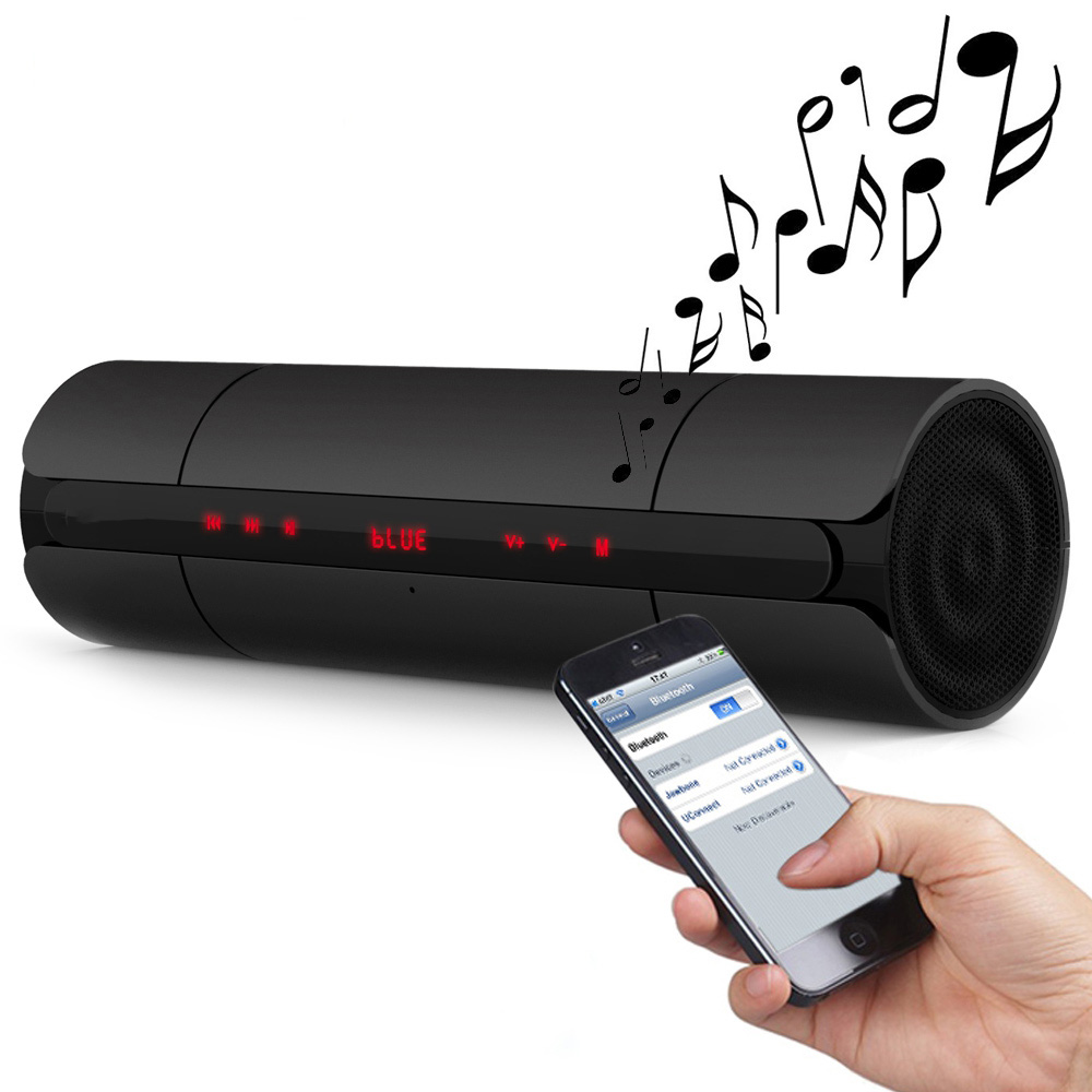 Portable Touch Buttons Bluetooth Speaker with LED Screen FM Radio Wireless Loundspeaker support USB TF Card Player Handsfree