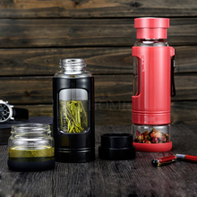Detachable Multifunctional Sport Office Water Bottle Convenient Travel Cup With Tea Filter Carry-on Tea Medicines Container