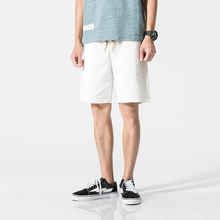 Summer Cotton linen Shorts youth loose men's casual