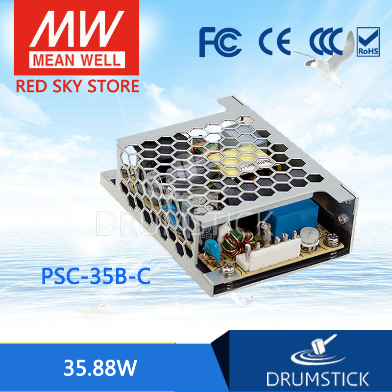 100% Original MEAN WELL PSC-35B-C 27.6V meanwell PSC-35 35.88W Single Output with Battery Charger(UPS Function) Enclosed [Real6] лопата truper psc b ws 33813