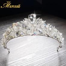 2017 New Luxurious Rhinestone Quinceanera Tiaras Princess Crown Headpiece Wedding Bridal Tiara Crown Handmade Diademas HG270