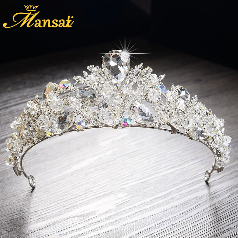 Prix pour 2017 Nouveau Luxueux Strass Quinceanera Diadèmes Princesse Couronne Casque De Mariée Mariage Tiare Couronne Main Diademas HG270