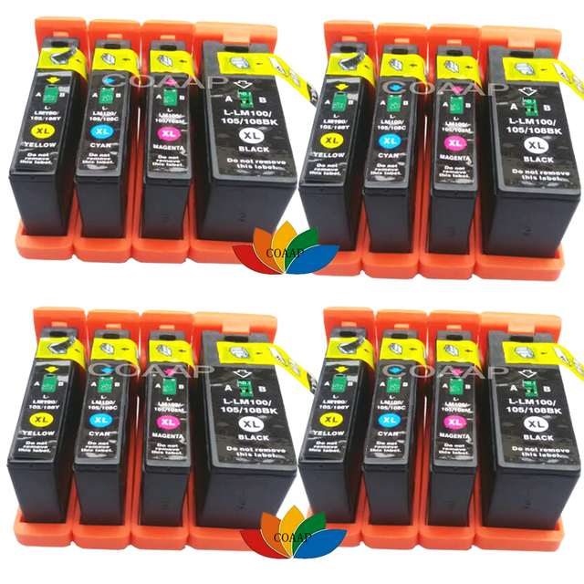 16 Compatible Lexmark 100 XL Black Color Ink Cartridge For Platinum Pro902 Pro903 Pro904 Pro905