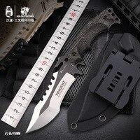 HX AO AR LIVRE Sobrevivência Faca de Caça Do Exército 59HRC Dureza VG10 Facas ferramenta Essencial Para A Auto defesa Ao Ar Livre Em Linha Reta faca de lâmina Facas     -