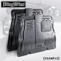 BING WINS Car styling For Honda Civic Plastic engine guard 2016 For Civic Engine skid plate fender alloy steel engine guard