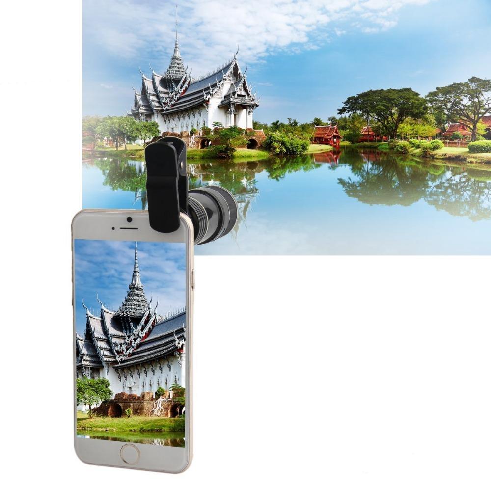 HD Phone Lens for Iphone 7 7plus Samsung S8 S7 Huawei 12X Zoom Optical Telephoto Telescope Mobile Phone Camera lens V06 6