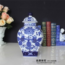 Blue and white porcelain vase modern Chinese home decoration living room ceramic