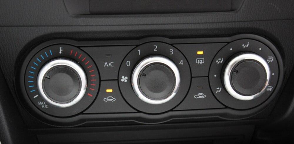 Автомобильный Кондиционер, регулятор тепла, регулятор кондиционера, ручка переменного тока, 3 шт. в комплекте для Mazda 3 2004-2009, автомобильный Стайлинг