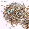 1400pcs 1.2mm Rhinestone Micro Shiny Nail Rhinestones Pointed Bottom Crystal Stone Nail Charm Nail Art Decoration Accessory