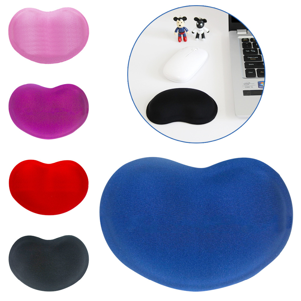 Etmakit Hot Selling Heart-shaped Comfort 3D Wrist Rest Silica Gel Hand Pillow Memory Cotton Mouse Pad For Office