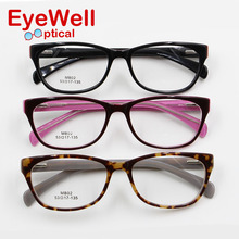 New fashion design women eyeglasses frame high quality lady acetate optical frame with spring hinge comfortable