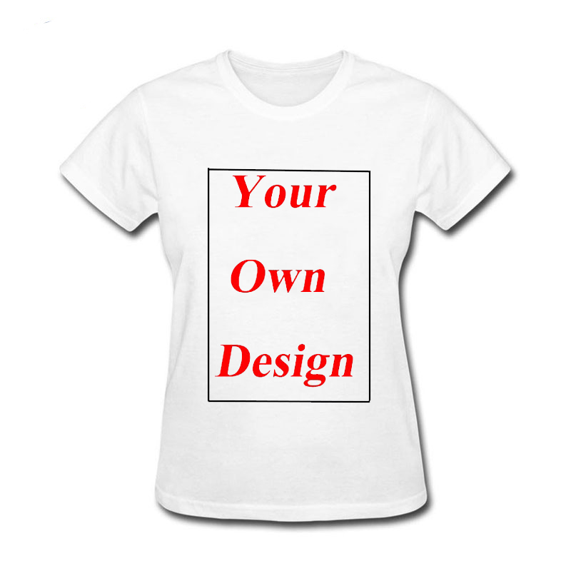 New Fashion Short Sleeve Tshirt Customized Your Own Design Any Picture Women Clothing Printed Cotton Funny T Shirt Women
