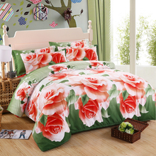 Hot! New 3d bedding set,bed linen,bedding-set,family set. 4pcs Contains: Duvet cover /Bed sheet/ Pillowcases. queen size