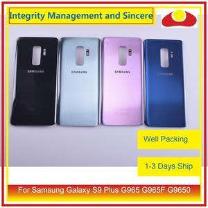 Image 2 - Original Für Samsung Galaxy S9 Plus G965 G965F G9650 SM G965F Gehäuse Batterie Tür Hinten Zurück Glas Abdeckung Fall Chassis Shell