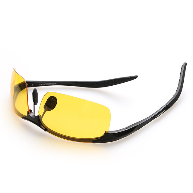 Men Night Driving Glasses Aluminum Alloy HD Night Vision Goggles Anti-glare Polarizer Sunglasses Car Drivers Glasses 4