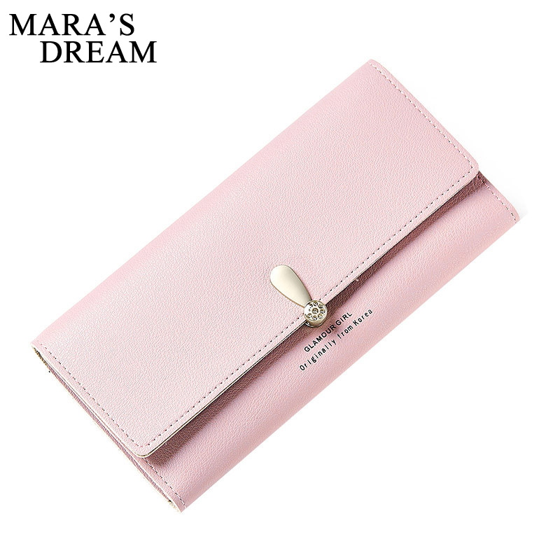 Mara's Dream 2017 New Fashion Women Wallets Female Cards Holder Candy Colors PU Wallet Coin Purses Girl Long Wallet Lady Wallets 2017 new ladies purses in europe and america long wallet female cards holders cartoon cat pu wallet coin purses girl