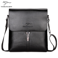 YUES KANGAROO Brand Fashion Men PU Leather Crossbady Bag Business Male Designer Messenger Handbags High Quality